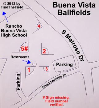 Buena Vista Ballfields Information - Buena vista on us map