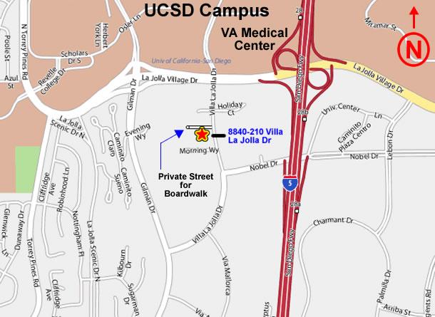 La Jolla Boardwalk rental - Driving Directions