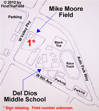 Del Dios Middle School (Mike Moore Field) Information